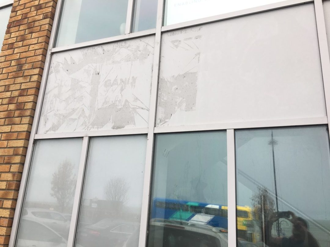 Flying rug - Sticker removing_and_external_window cleaning in Balckrock